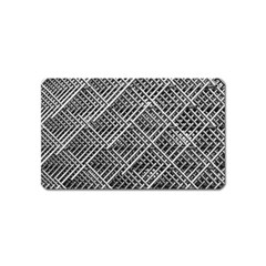 Pattern Metal Pipes Grid Magnet (name Card)