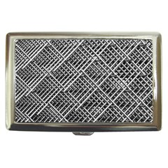 Pattern Metal Pipes Grid Cigarette Money Cases