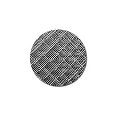 Pattern Metal Pipes Grid Golf Ball Marker (4 pack)