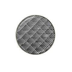 Pattern Metal Pipes Grid Hat Clip Ball Marker (10 Pack)