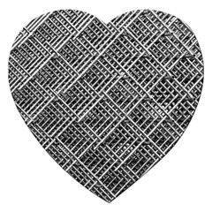 Pattern Metal Pipes Grid Jigsaw Puzzle (Heart)