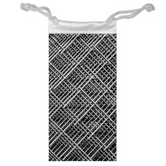 Pattern Metal Pipes Grid Jewelry Bag