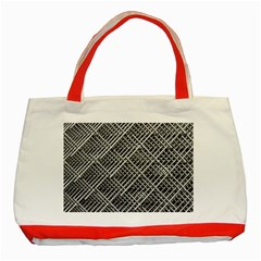 Pattern Metal Pipes Grid Classic Tote Bag (red)
