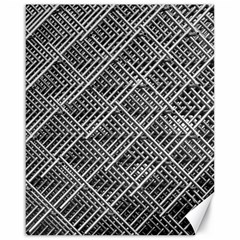 Pattern Metal Pipes Grid Canvas 16  X 20