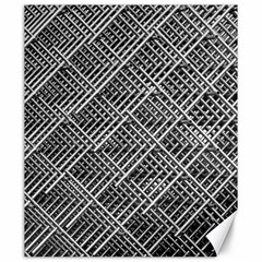 Pattern Metal Pipes Grid Canvas 20  X 24