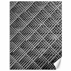 Pattern Metal Pipes Grid Canvas 36  x 48