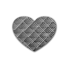 Pattern Metal Pipes Grid Heart Coaster (4 pack)
