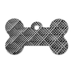 Pattern Metal Pipes Grid Dog Tag Bone (two Sides)