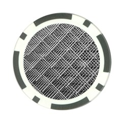 Pattern Metal Pipes Grid Poker Chip Card Guard