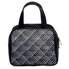 Pattern Metal Pipes Grid Classic Handbags (2 Sides)