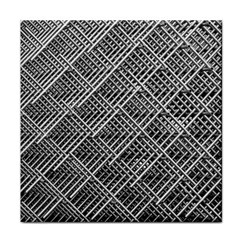 Pattern Metal Pipes Grid Face Towel