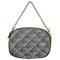 Pattern Metal Pipes Grid Chain Purses (One Side)
