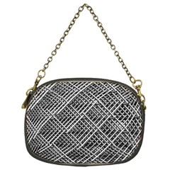 Pattern Metal Pipes Grid Chain Purses (Two Sides)