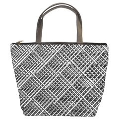 Pattern Metal Pipes Grid Bucket Bags