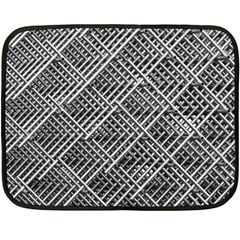 Pattern Metal Pipes Grid Double Sided Fleece Blanket (mini)