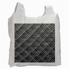 Pattern Metal Pipes Grid Recycle Bag (two Side)