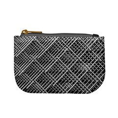 Pattern Metal Pipes Grid Mini Coin Purses