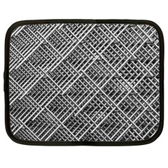 Pattern Metal Pipes Grid Netbook Case (xl)