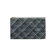 Pattern Metal Pipes Grid Cosmetic Bag (Small)