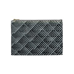 Pattern Metal Pipes Grid Cosmetic Bag (Medium)