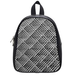 Pattern Metal Pipes Grid School Bags (Small)