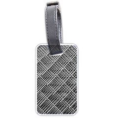 Pattern Metal Pipes Grid Luggage Tags (one Side)