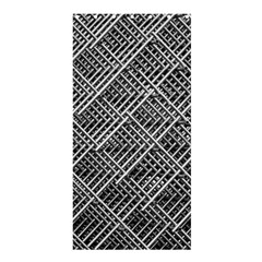 Pattern Metal Pipes Grid Shower Curtain 36  x 72  (Stall)