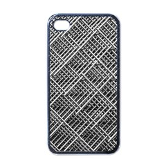 Pattern Metal Pipes Grid Apple iPhone 4 Case (Black)