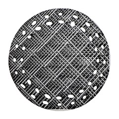 Pattern Metal Pipes Grid Ornament (Round Filigree)