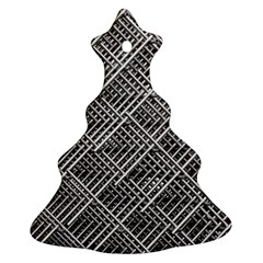 Pattern Metal Pipes Grid Christmas Tree Ornament (Two Sides)