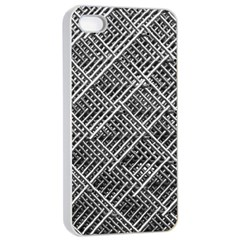 Pattern Metal Pipes Grid Apple iPhone 4/4s Seamless Case (White)