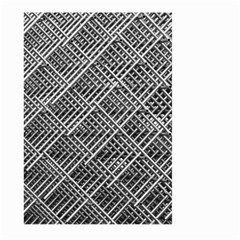 Pattern Metal Pipes Grid Large Garden Flag (two Sides)