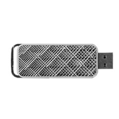 Pattern Metal Pipes Grid Portable USB Flash (Two Sides)