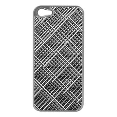 Pattern Metal Pipes Grid Apple iPhone 5 Case (Silver)