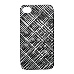Pattern Metal Pipes Grid Apple Iphone 4/4s Hardshell Case With Stand