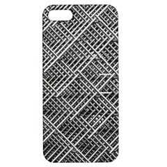 Pattern Metal Pipes Grid Apple Iphone 5 Hardshell Case With Stand