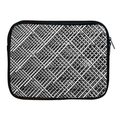 Pattern Metal Pipes Grid Apple Ipad 2/3/4 Zipper Cases