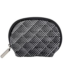 Pattern Metal Pipes Grid Accessory Pouches (small)