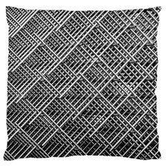 Pattern Metal Pipes Grid Large Flano Cushion Case (one Side)