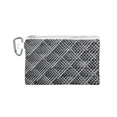 Pattern Metal Pipes Grid Canvas Cosmetic Bag (s)