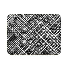Pattern Metal Pipes Grid Double Sided Flano Blanket (Mini)