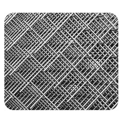 Pattern Metal Pipes Grid Double Sided Flano Blanket (small)