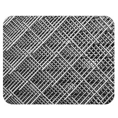 Pattern Metal Pipes Grid Double Sided Flano Blanket (Medium)