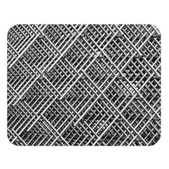 Pattern Metal Pipes Grid Double Sided Flano Blanket (large)