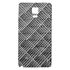 Pattern Metal Pipes Grid Galaxy Note 4 Back Case
