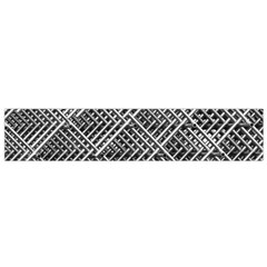 Pattern Metal Pipes Grid Flano Scarf (Small)