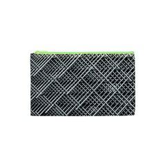 Pattern Metal Pipes Grid Cosmetic Bag (XS)