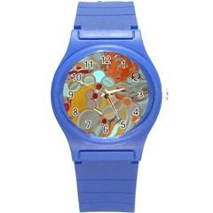 Liquid Bubbles Round Plastic Sport Watch (s)