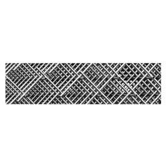 Pattern Metal Pipes Grid Satin Scarf (Oblong)