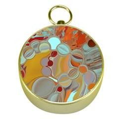 Liquid Bubbles Gold Compasses